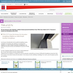Rénovation - TVA à 5,5%