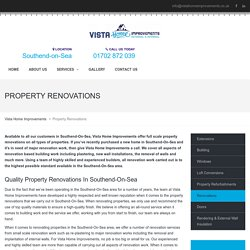 Property Renovations Southend-On-Sea - Vista Home Improvements