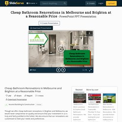 Cheap Bathroom Renovations in Melbourne and Brighton at a Reasonable Price