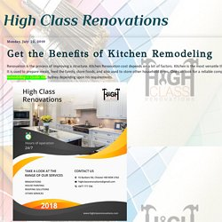 Get the Benefits of Kitchen Remodeling