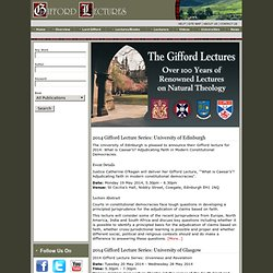 The Gifford Lectures