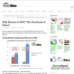 "Why Renren is NOT ""The Facebook of China"""