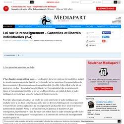 Loi sur le renseignement - Garanties et libertés individuelles (2-4)