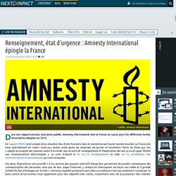 Renseignement, état d'urgence : Amnesty International épingle la France