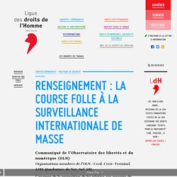 Renseignement : la course folle à la surveillance internationale de masse