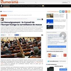 Loi Renseignement : le Conseil de l'Europe fustige la surveillance de masse