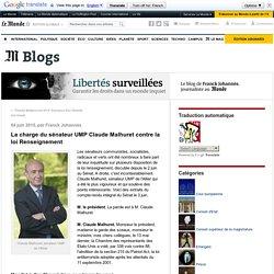 La charge du sénateur UMP Claude Malhuret contre la loi Renseignement