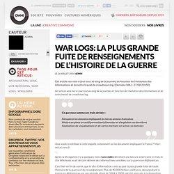 La plus grande fuite de renseignements de l'histoire de la guerre » Article » OWNI, Digital Journalism