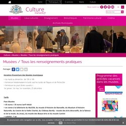Musées / Tous les renseignements pratiques