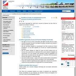 Conditions d'accès et renseignements sur les concours et examens professionnels