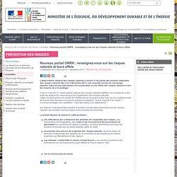 Nouveau portail ONRN : renseignez-vous sur les risques naturels et leurs effets