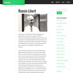 Rensis Likert - Biographies, Books and Theories