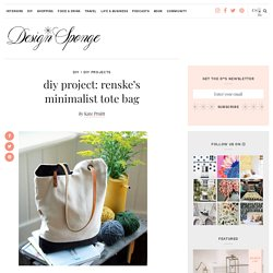 Design*Sponge » Blog Archive » diy project: renske's minimalist tote bag