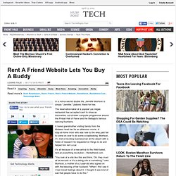 Rent A Friend Website Lets You Buy A Buddy