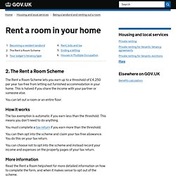 Rent a room in your home
