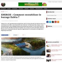 ENERGIE : Comment rentabiliser le barrage Kaléta ? - GuineeConakry.info
