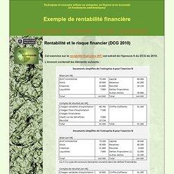 Exemple rentabilité financière