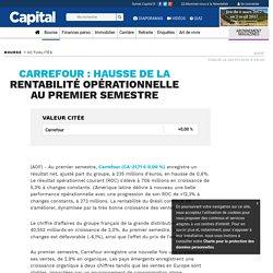 CARREFOUR : hausse de la rentabilité opérationnelle au premier semestre