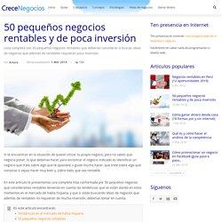 50 pequeños negocios rentables y de poca inversión