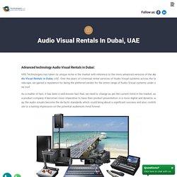 AV Rental Companies in Dubai - VRS Technologies