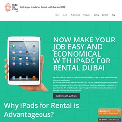 ipad Rental Company Dubai - Rental ipad - Hire ipads