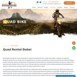Quad Bike Rental and Tours in Dubai - Endurobikes