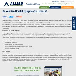 Do You Need Rental Equipment Insurance?