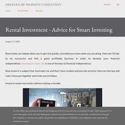 Rental Investment - Advice for Smart Investing