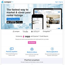 Post Rental Listings & Manage Applications for Free - Zumper Pro