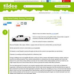 Car Rental Safety During Traveling on Tildee
