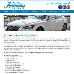 Automatic Rent a Car in Cochin at Achoosrentacar.com