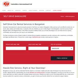 Self Drive Car Rentals in Bangalore - Autoriders