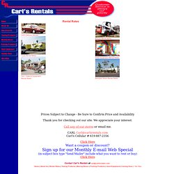 Carl's Rentals of San Diego - Cars, Trucks, Equipment and Tools