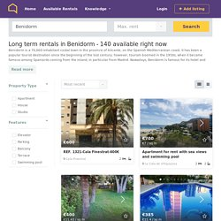 Long term rentals and winter lets in Benidorm from €350/month