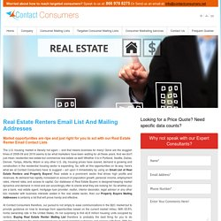 Real Estate Renters Email List and Mailing Addresses