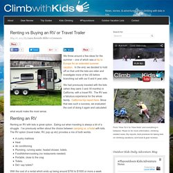 Renting vs Buying an RV or Travel Trailer