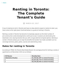 Renting in Toronto: The Complete Tenant's Guide