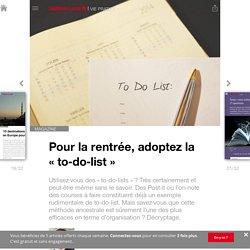 Pour la rentrée, adoptez la «to-do-list» - Edition du soir Ouest France - 02/09/2016