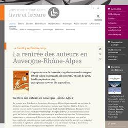 La rentrée des auteurs en Auvergne-Rhône-Alpes – Auvergne-Rhône-Alpes - Livre et lecture