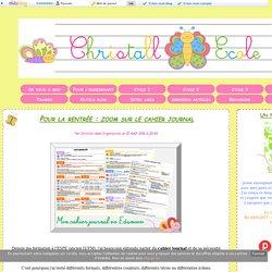 Pour la rentrée : zoom sur le cahier journal - Christall'Ecole