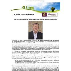 Une rentrée pleine de renouveau pour le Pôle des Eco-Industries