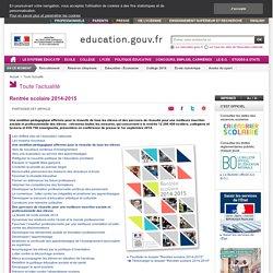 Rentrée scolaire 2014-2015 - Ministère de l'Éducation nationale, de l'Enseignement supérieur et de la Recherche