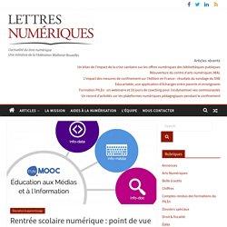 Rentrée scolaire numérique: point de vue sur les FUN MOOC