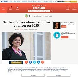 Rentrée universitaire: ce qui va changer en 2020