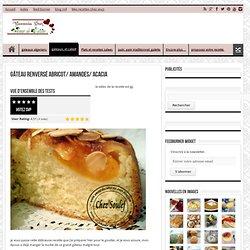 Gâteau renversé abricot/amandes/ acacia