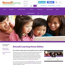Renzulli Learning Home Edition - Renzulli Learning System