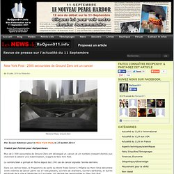 New York Post : 2500 secouristes de Ground Zero ont un cancer