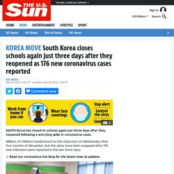 South Korea closes schools again just three days after they reopened as 176 new coronavirus cases reported – The US Sun