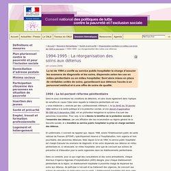 1994-1995 : La réorganisation des soins aux détenus