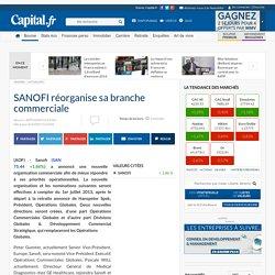 SANOFI réorganise sa branche commerciale